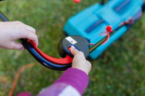 Benzine grasmaaier starter elektrisch