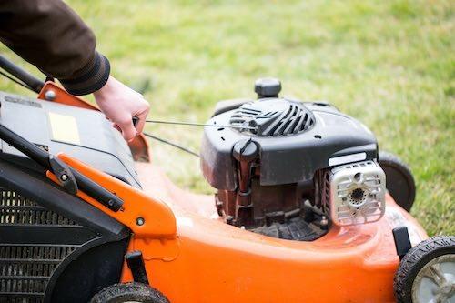 Koordstarter benzine grasmaaier